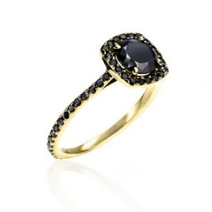 Natural Black Diamond Rings