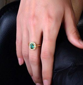 Natural Colombian Emerald Rings