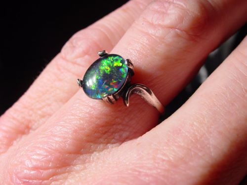 Natural Opal Engagement Rings