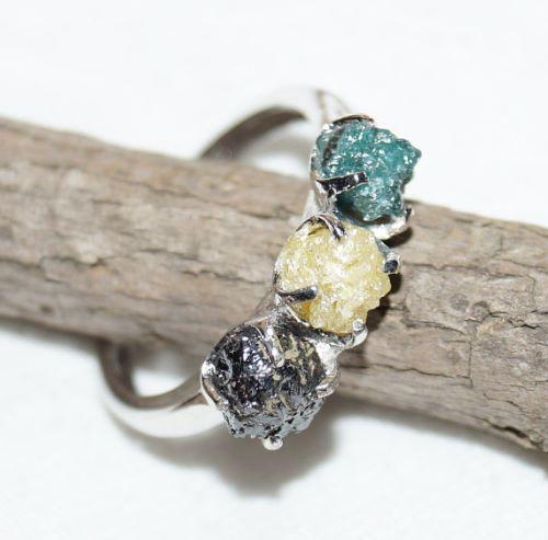 Natural Rough Diamond Engagement Rings