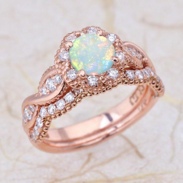 Old Opal Fashioned Engagement Rings