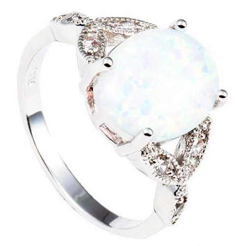 Opal And Emerald Engagement Ring