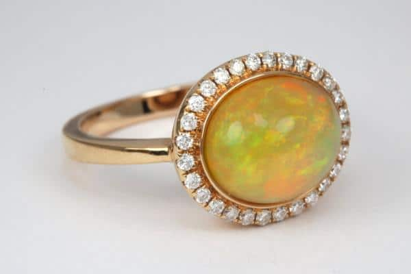 Opal Antique Engagement Rings