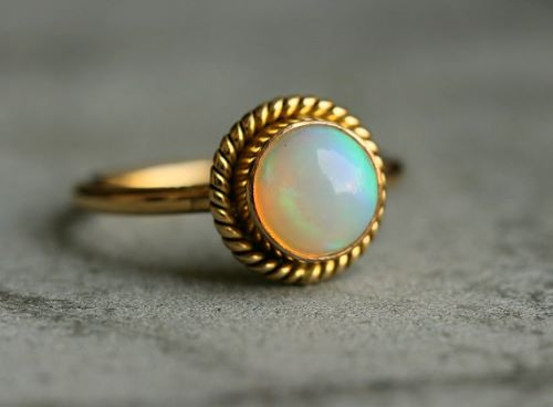 Opal Engagement Rings Etsy