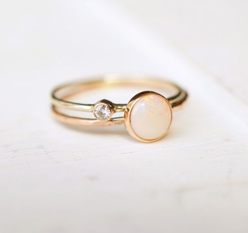 Opal Engagement Rings For Women