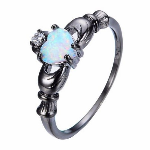Opal Engagement Rings No Diamond