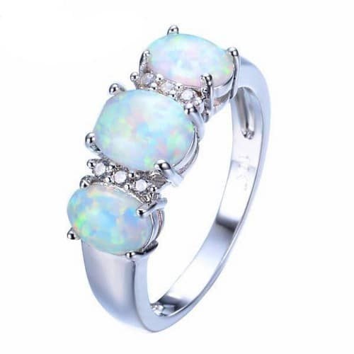 Opal Engagement Rings Rose Gold