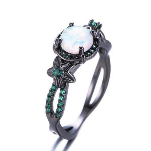 Opal Rings With Diamond