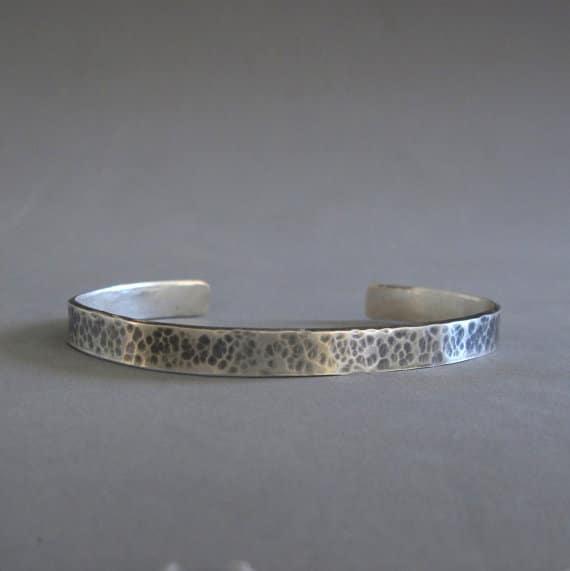 Oxidized Sterling Silver Bracelets For Men