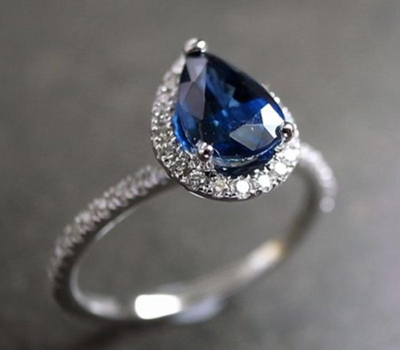 Pear-Shaped Ring Stone