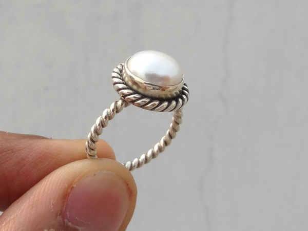 Pearl Ring And Earring Set
