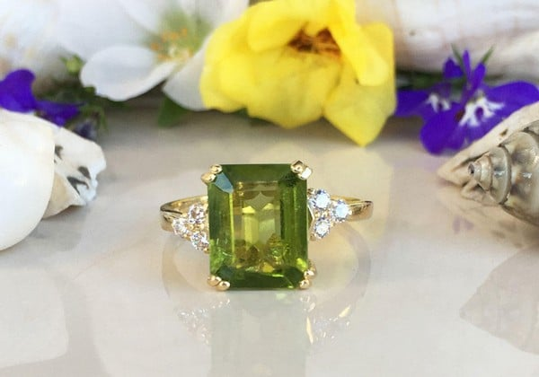 Peridot Birthstone Rings