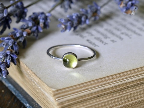 Peridot Gold Rings