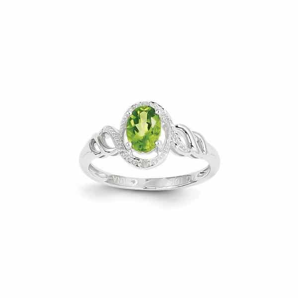 Peridot Rings Womens