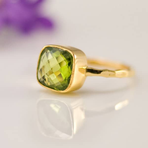 Peridot Wedding Rings