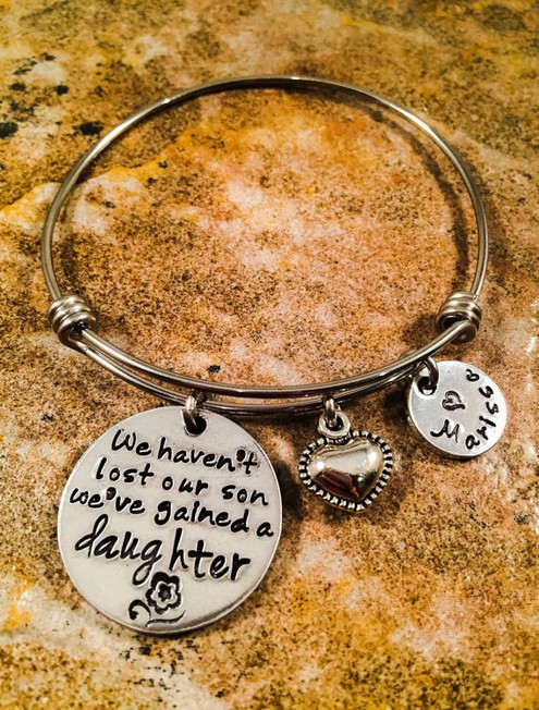 Personalized Daughter In Law Bracelet