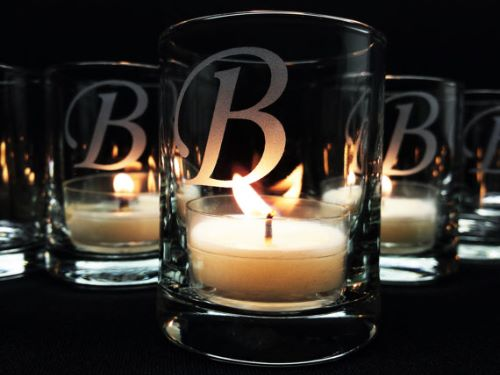 Personalized Monogram Candle Holders Wedding Favors for Guests