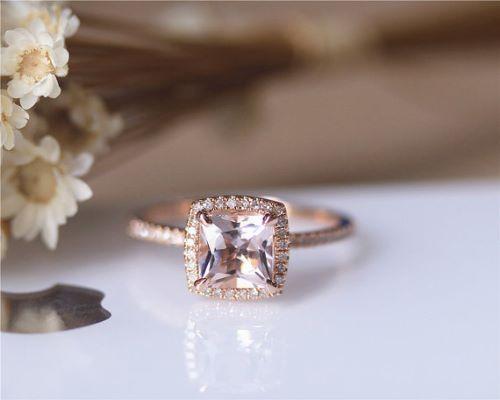 Pink Gold Engagement Rings Uk