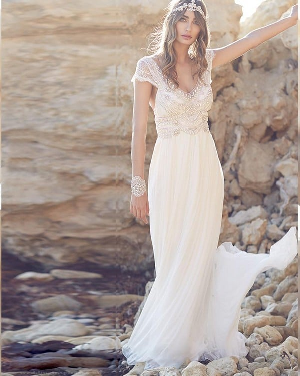 Plus Size Bohemian Wedding Dresses