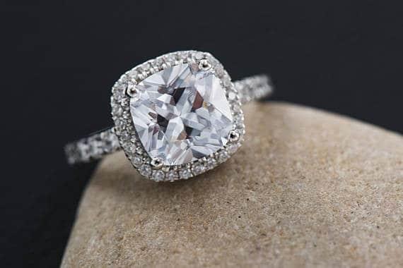 Princess Cut Engagement Ring Insignia