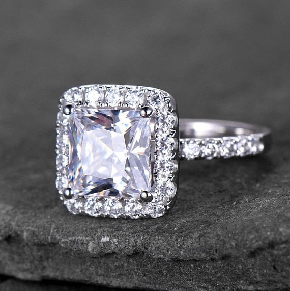 Princess Cut Engagement Ring