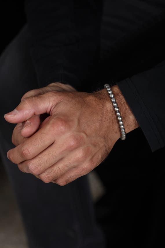 Pure Silver Bracelets For Men