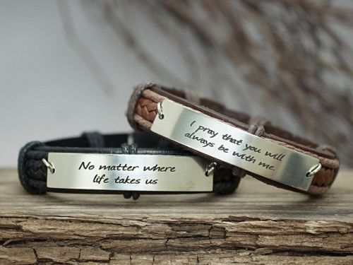 Quote Bracelets For Couples