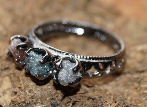 Rough Diamond Wedding Rings