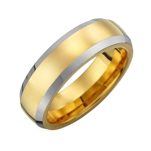 R&B Jewelry Unique 7Mm Tungsten Mens Ring
