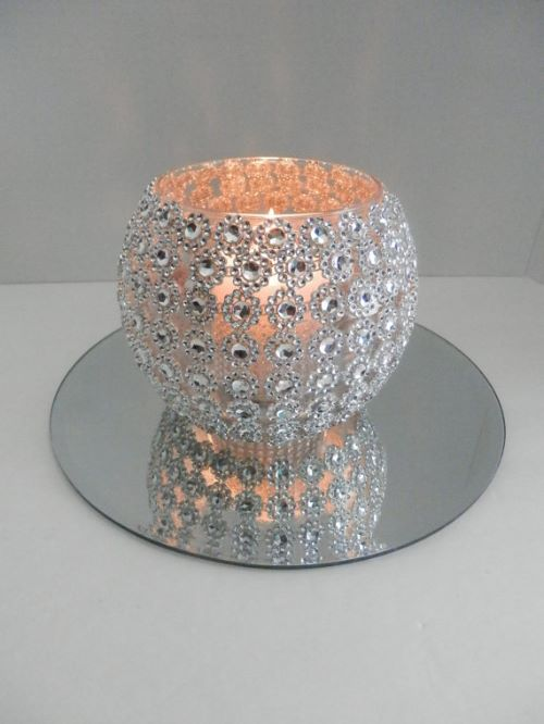 Rhinestone Vase Candle Holder Wedding Decoration Perfection