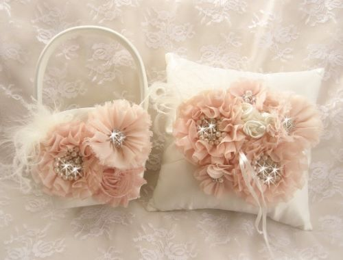 Ring Bearer Pillow and Flower Girl Basket Wedding Accessories and Necessities