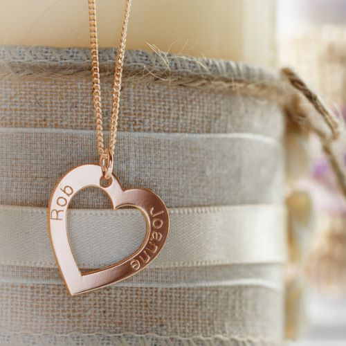 Rose Gold Heart Pendant Necklaces