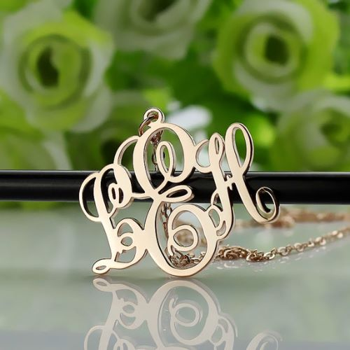 Rose Gold Initial Necklaces