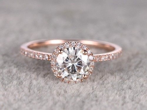 Rose Gold Moissanite Engagement Rings