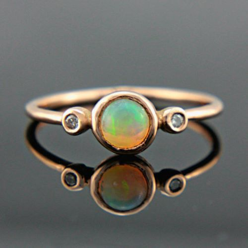 Rose Gold Opal Engagement Rings