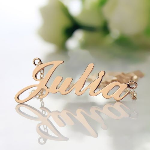 Rose Gold Personalized Necklaces