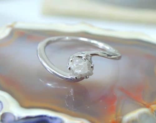Rough Cut Diamond Ring Sale