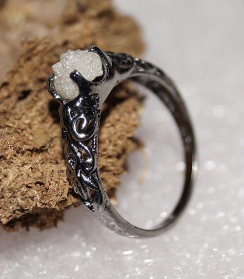 Rough Diamond Engagement Ring Uk