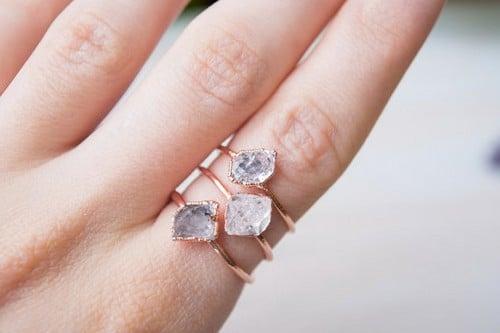 Rough Diamond Ring Engagement Rings