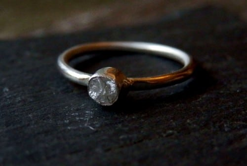 rough diamond wedding rings