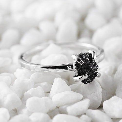 Rough Natural Diamond Ring