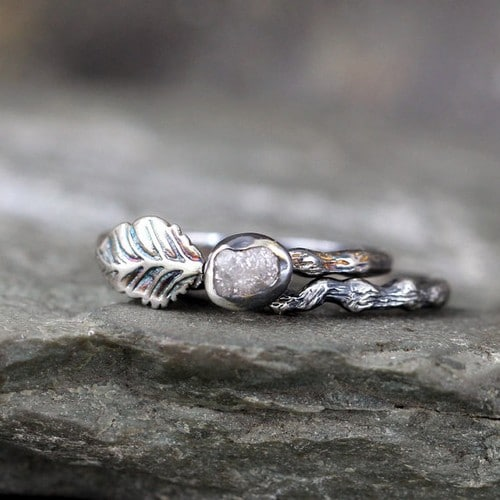 Rough Raw Diamond Ring