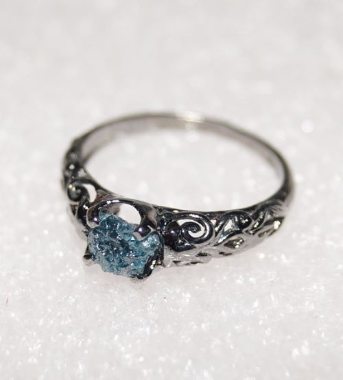 Rough Uncut Diamond Ring