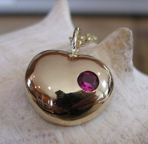 Ruby Heart Necklaces
