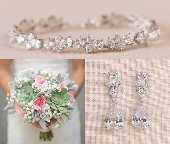 Sapphire Blue Drop Wedding Jewellery Set