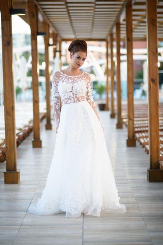 Sexy Bohemian Wedding Dress