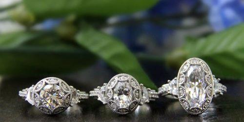 Diamond Simulants Afordable Engagement Ring - Price: $76.25 - Get it via Etsy
