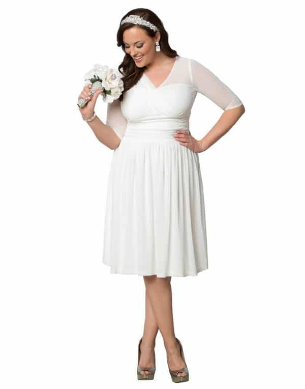 Short Plus Size Wedding Dresses