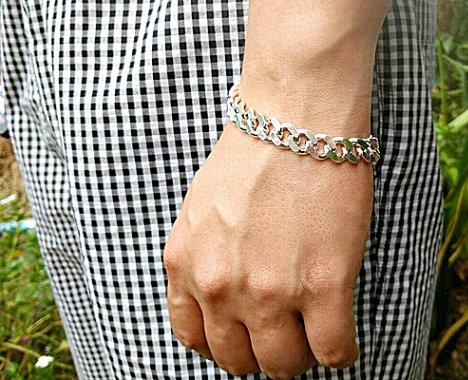 Silver Bracelets For Men Amazon