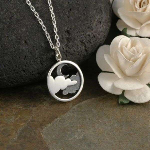 Silver Moon Necklace